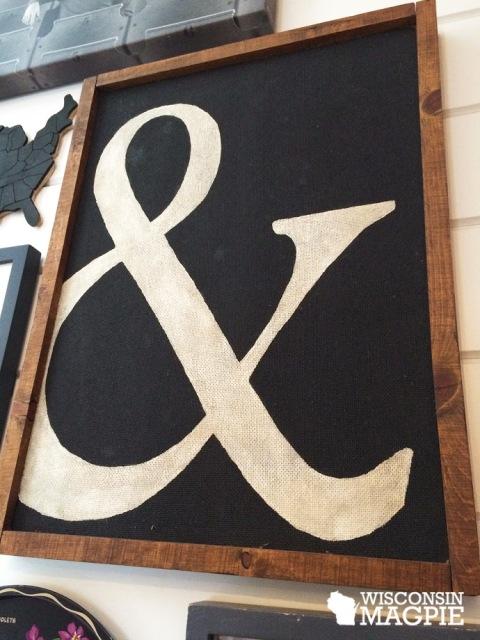 stenciled letter
