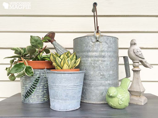 galvanized metal containers