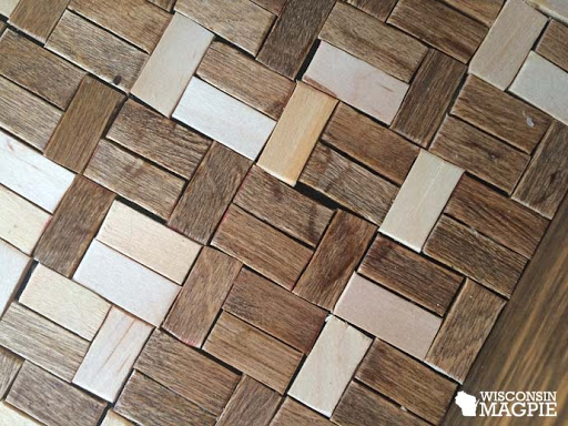 wood tiled tray