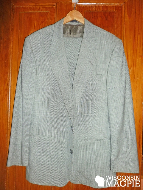 grey suit before painting