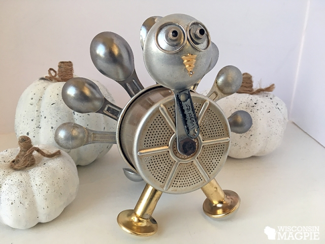 turkey made from metal parts