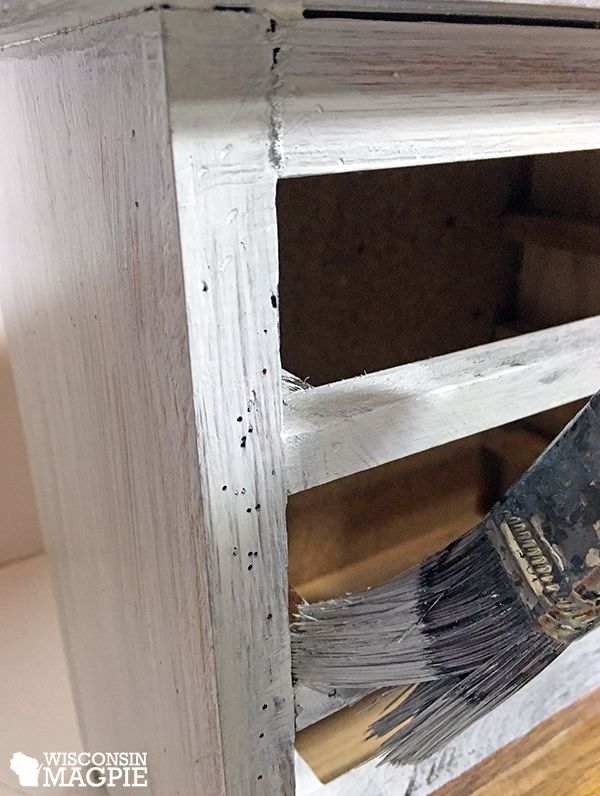 mini chest makeover with milk paint
