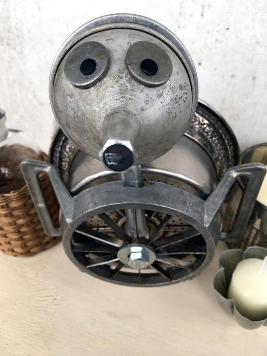 Turkey bot assemblage make of thrift store junk